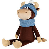 Мягкая игрушка Maxitoys Luxury Бычок Василий в шарфе и шапке, 23 см