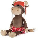 Мягкая игрушка Maxitoys Luxury Бычок Федот в шапке-ушанке и трусах, 23 см
