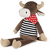 Мягкая игрушка Maxitoys Luxury Бык Гаврила в тельняшке, 23 см
