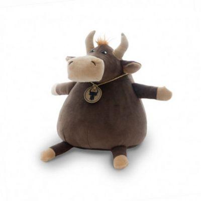 Мягкая игрушка Maxitoys Luxury Бык Макар с цепочкой и медальоном, 22 см
