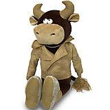 Мягкая игрушка Maxitoys Luxury Бык Вова в кожаной куртке, 28 см