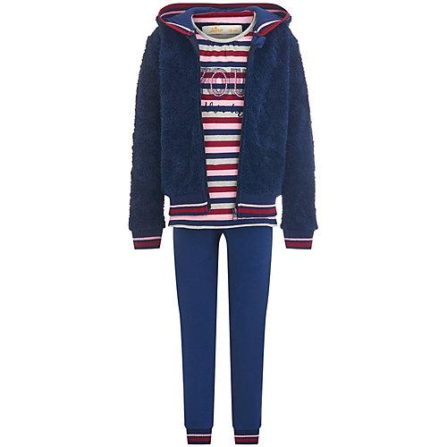 Комплект: куртка, лонгслив, брюки Juno - темно-синий от Juno