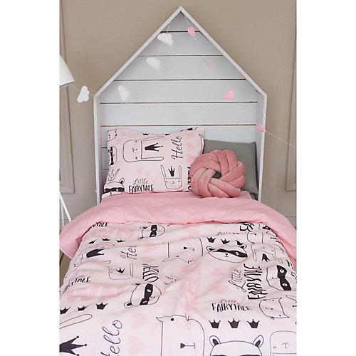 Комплект постельного белья Этель Little crown, 1.5 спальный - розовый