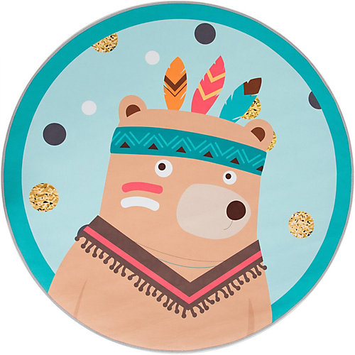"Ковер Крошка Я ""Индеец"", диаметр 120 см - разноцветный от Крошка Я"