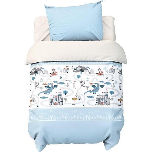 """Комплект постельного белья Крошка Я """"Храбрый рыцарь"""" - голубой"""