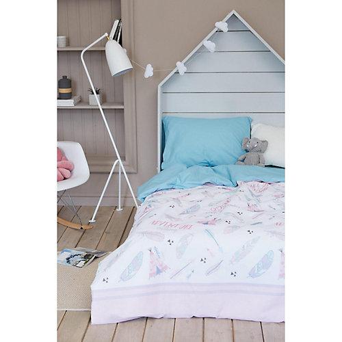 Комплект постельного белья Этель Wake up, 1.5 спальный - розовый