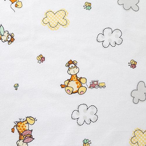 """Пеленка подарочная Крошка Я """"Веселые жирафы"""" 75х120 см - белый от Крошка Я"""