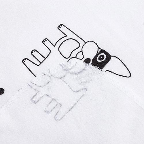 """Пеленка подарочная Крошка Я """"Модные собачки"""" 75х120 см - белый от Крошка Я"""