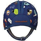 Мягкая шапка-шлем для защиты головы Safehead Baby На спорте, синий