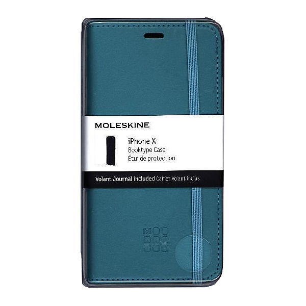 Moleskine Reef Blue Iphone 10 Booktype Case