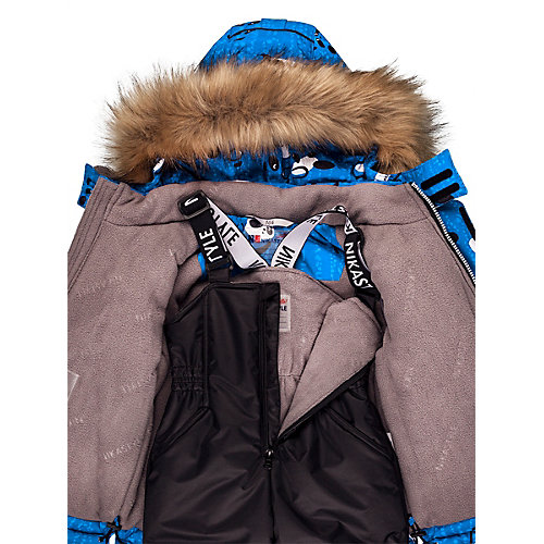 Комплект Nikastyle: куртка и полукомбинезон - джинсовый