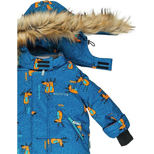 Комплект Nikastyle: куртка и полукомбинезон - синий