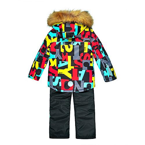 Комплект Nikastyle: куртка и полукомбинезон - черный/розовый