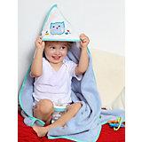Полотенце для купания Uviton Little owl 90х90 см, сине-серое