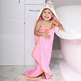 Полотенце для купания Uviton Kitten 90х90 см, розовое