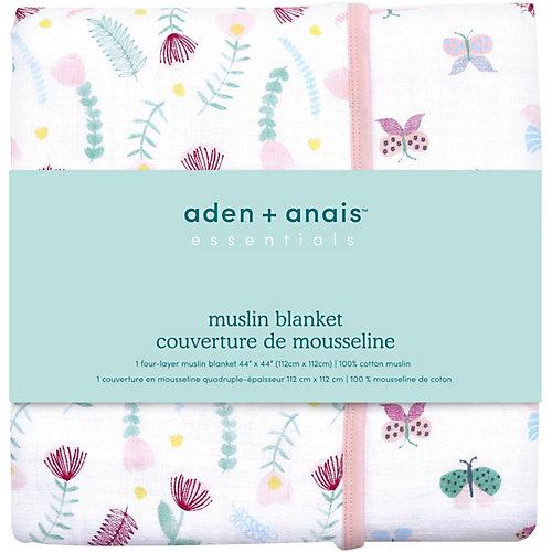Одеяло из муслина Aden Anais Floral fauna 112х112 см от aden+anais