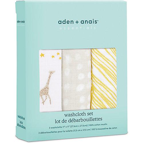 Набор полотенец для лица и рук Aden Anais Starry star, 3 шт от aden+anais
