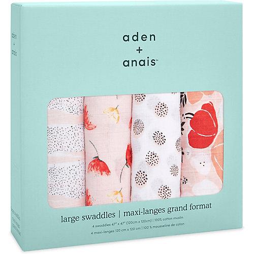 Набор муслиновых пеленок Aden Anais Picked for you 120х120 см, 4 шт от aden+anais