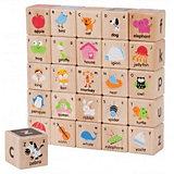 Цветные кубики Wonderworld АВС, 26 шт