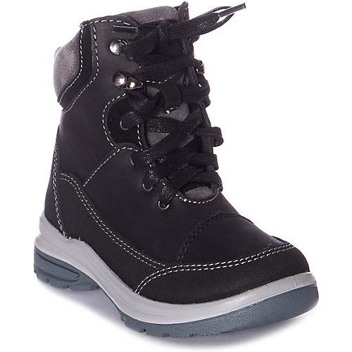 Утеплённые ботинки Котофей - черный от Котофей