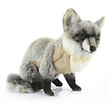 Мягкая игрушка Hansa Серая лиса сидящая, 30 см