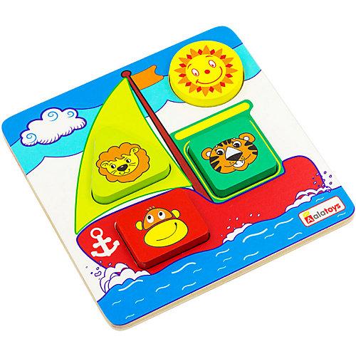 Рамка-вкладыш Alatoys Кораблик, 5 деталей от Alatoys