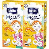 Ежедневные прокладки Bella For Teens Energy deo экстратонкие, 2х20 шт