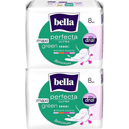 Прокладки Bella Perfecta Ultra Maxi Green супертонкие, 2х8 шт, new