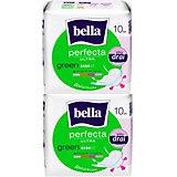 Прокладки Bella Perfecta Ultra Green супертонкие, 2х10 шт, new design
