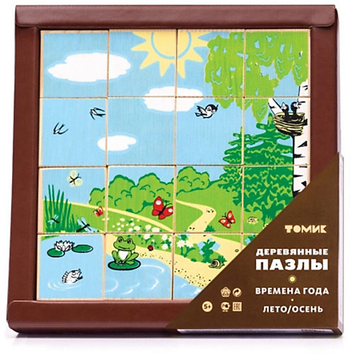 "Кубики Томик ""Времена года, лето-осень"", 16 шт от Томик"