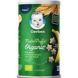 Снэки Gerber Organic Nutripuffs рисово-пшеничные с бананом, с 12 мес, 35 г