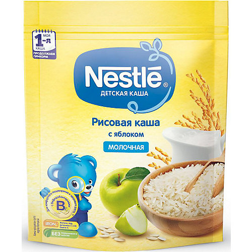 Молочная каша Nestle рисовая с яблоком, с 4 мес, 220 г от Nestle