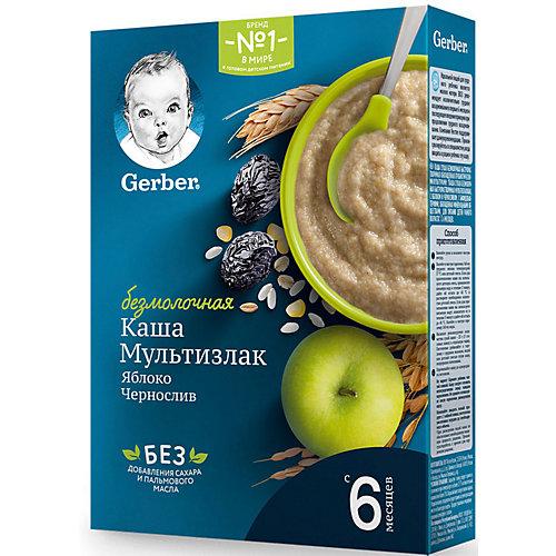Безмолочная каша Gerber мультизлак яблоко чернослив, с 6 мес, 180 г от Gerber