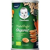 Снэки Gerber Organic Nutripuffs пшенично-овсяные с морковью и апельсином, с 12 мес, 35 г