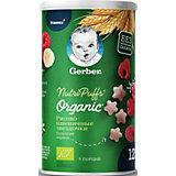 Снэки Gerber Organic Nutripuffs рисово-пшеничные с бананом и малиной, с 12 мес, 35 г