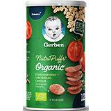 Снэки Gerber Organic Nutripuffs пшенично-овсяные с томатом и морковью, с 12 мес, 35 г