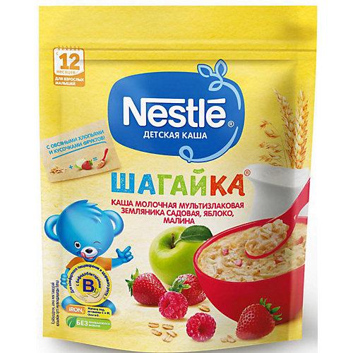 Молочная каша Nestle Шагайка мультизлаковая, земляника, яблоко, малина, с 12 мес, 200 г от Nestle