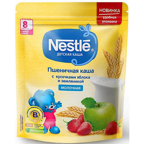 Молочная каша Nestle пшеничная с кусочками яблока и земляникой, с 8 мес, 220 г от Nestle