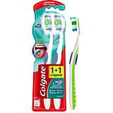 Зубная щетка Colgate 360 суперчистота средняя жёсткость, 2 шт