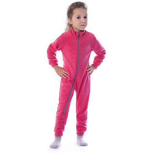 Флисовый комбинезон Утенок - темно-розовый