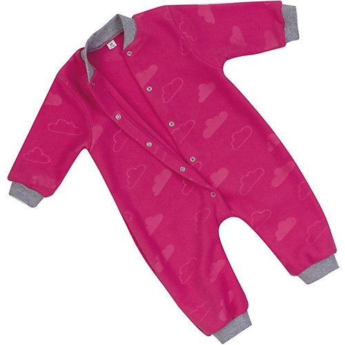 Флисовый комбинезон Утенок - розовый/розовый
