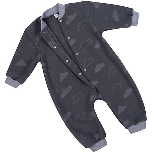 Флисовый комбинезон Утенок - темно-серый