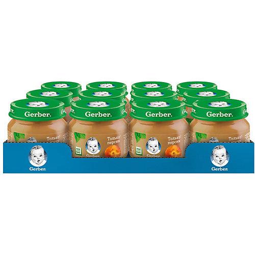 Пюре Gerber персик с 4 мес, 12 шт х 80 г/уп от Gerber