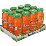 Сок Gerber яблочно-морковный с мякотью с 4 мес, 12 шт х 175 мл/уп