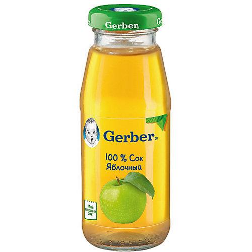Сок Gerber яблочный с 4 мес, 12 шт х 175 мл/уп от Gerber