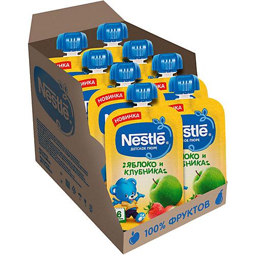 Пюре Nestle яблоко, клубника с 6 мес, 8 шт х 90 г/уп от Nestle