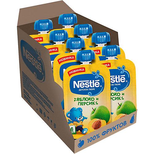 Пюре Nestle яблоко, персик с 6 мес, 8 шт х 90 г/уп от Nestle