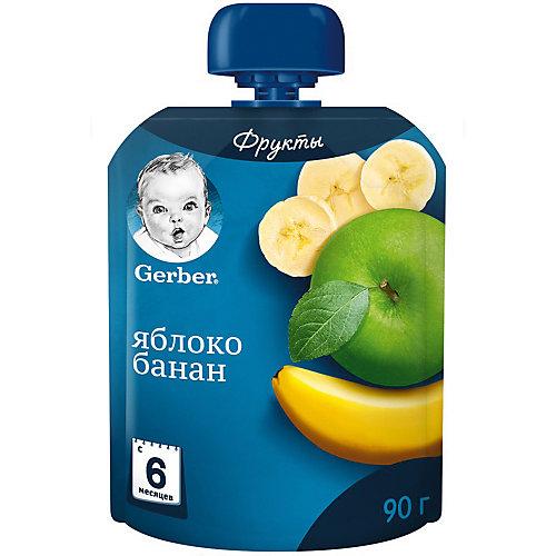 Пюре Gerber яблоко, банан с 6 мес, 7 шт х 90 г/уп от Nestle