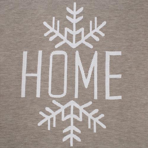 Вязаный плед Этель Home, 110х140 см - серый