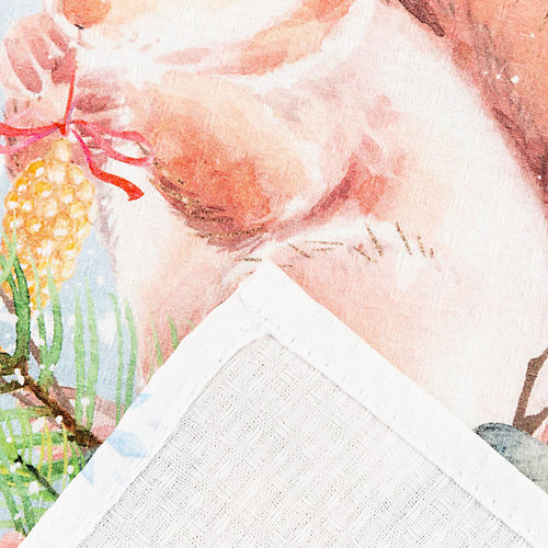 """Полотенце Этель """"Счастья в Новом Году"""" - розовый"""